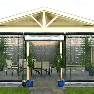 Garden All Year Round With Patio Blinds